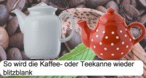 Saubere Kaffeekanne